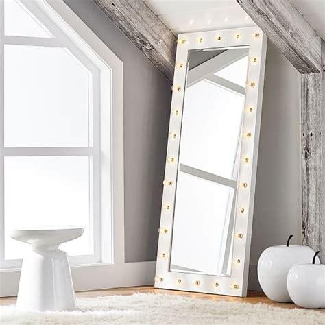 light up body mirror marquee light mirrors pbteen