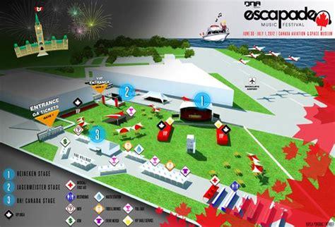 Escapade Music Fest Sitemapjpg 565×384 Pixels  Stages