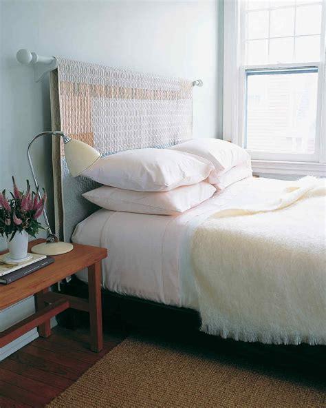 diy curtain diy headboard ideas give your bed a boost martha stewart