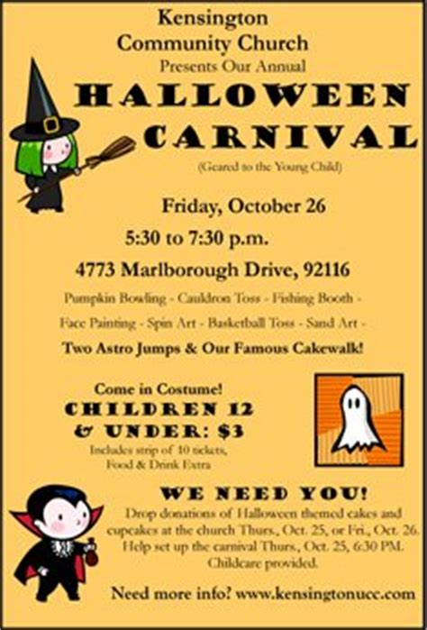 halloween carnival  kensington community church kpbs