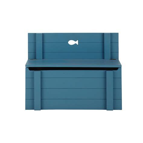 chambre ado petit espace banc coffre enfant en bois bleu l 70 cm marin maisons du