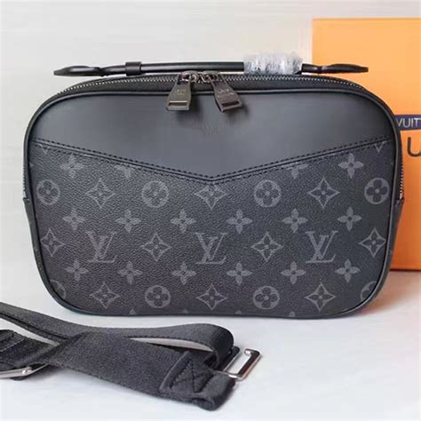 louis vuitton monogram eclipse canvas bumbag bag