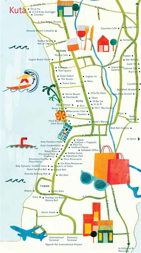 bali indonesia map  attractions bali indonesia holiday