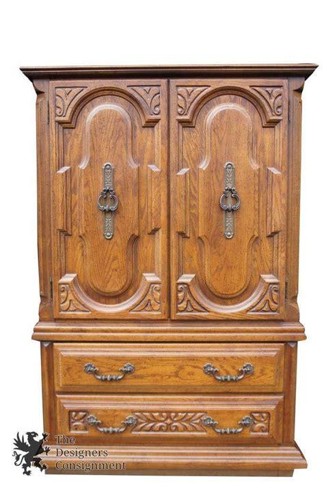 Oak Bedroom Armoire by Sumter Cabinet Co Distressed Oak Bedroom Armoire Tallboy
