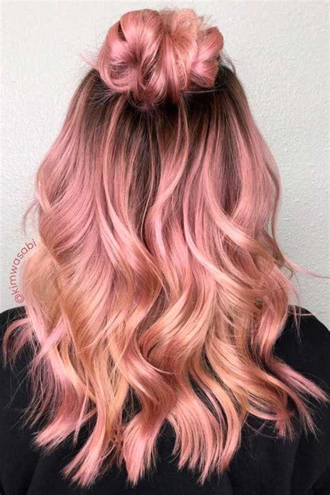 rose gold hair color ideas  die  hair styles