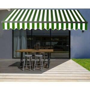 aleko black frame retractable home patio canopy awning    ft greenwhite ebay