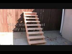 unicycle tutorial how to make a stair set youtube With französischer balkon mit garten kugelleuchten 3 set