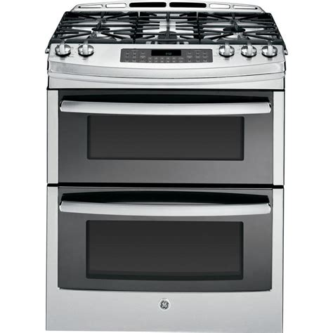 ge profile 6 7 cu ft slide in oven gas range with self cleaning convection oven in