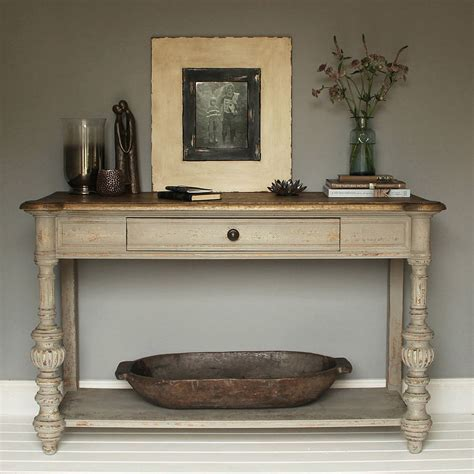 grey oak console table by primrose & plum