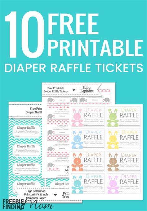 printable diaper raffle