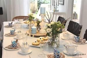Tischdekoration Ideen Geburtstag : geburtstagsfeier tischdekoration in zartem blau tischlein deck dich ~ Frokenaadalensverden.com Haus und Dekorationen