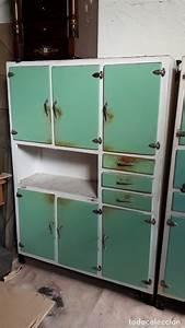 Mueble, De, Cocina, Antiguo, Vintage, Color, Blanco, Y
