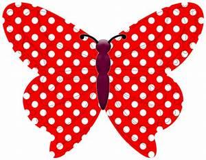 24 Red Polka Dot Edible Butterflies Holly Cupcakes