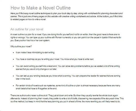 mystery novel outline template 7 novel outline templates doc pdf excel free