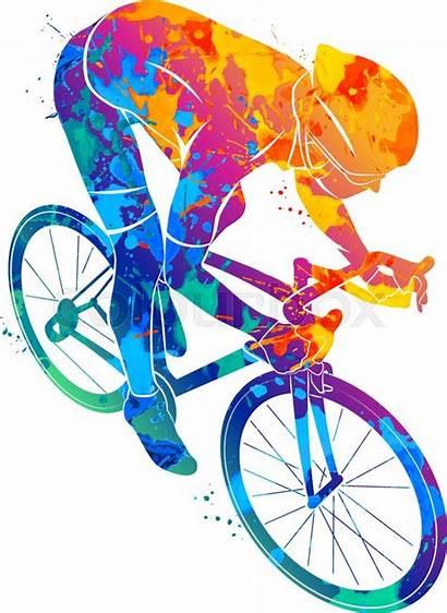 Cyclist Track Vector Abstract Race Splash Bike