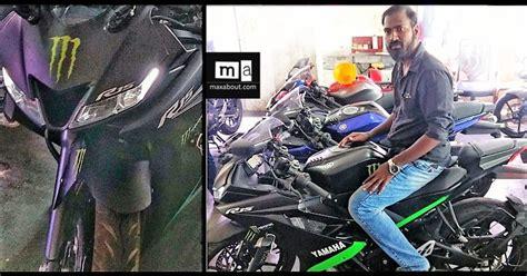 Yamaha R15 V3 Matte Black Spotted At A Dealership In Chennai