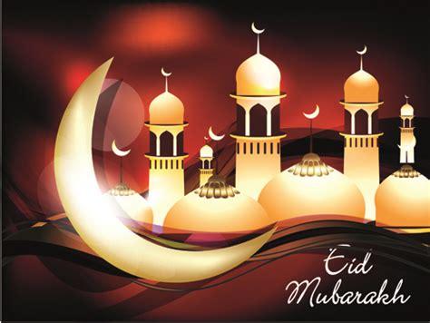 vector background eid mubarak islamic design vector