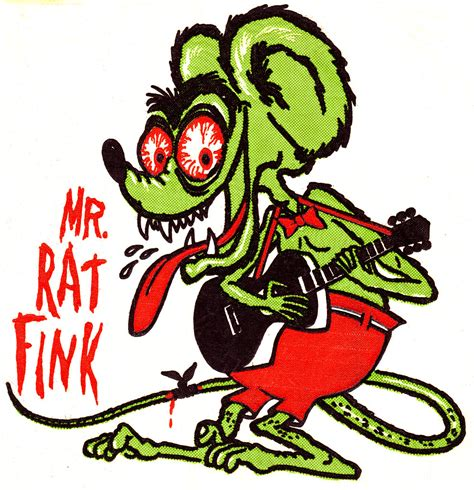 Mani Yack Iron On Transfer Mr Rat Fink Cleaned
