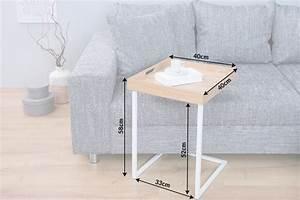 Beistelltisch Eiche Weiß : design beistelltisch ciano tablett tisch eiche wei tabletttisch riess ~ Frokenaadalensverden.com Haus und Dekorationen