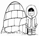 Igloo Coloring Sheets Cold Pages Front Ultimate Coloringpagesfortoddlers Disimpan Dari sketch template
