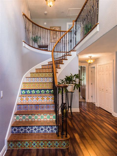 tiled staircase houzz