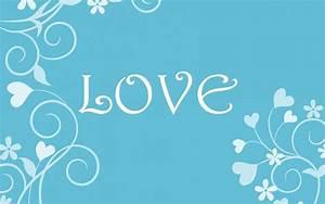 Blue Love Wallpaper