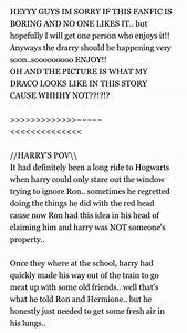 Drarry fanfic |... Drarry Fic