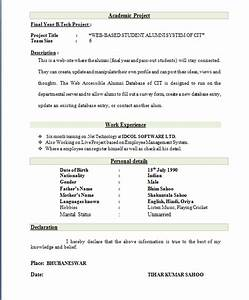 Resume Samples For Freshers Engineers Eee Resume Ixiplay