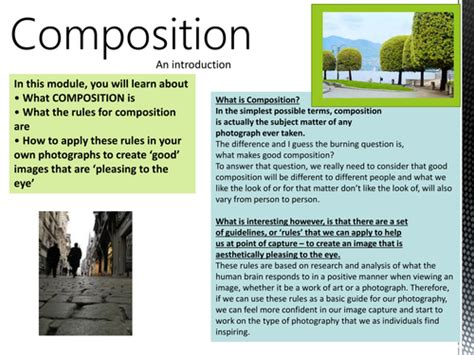 photography  rules  composition display