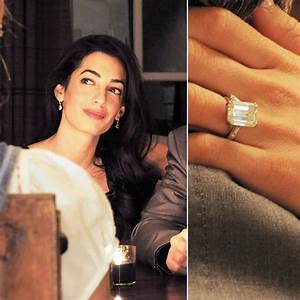 Amal Alamuddin | The Very Best Celebrity Engagement Rings ...