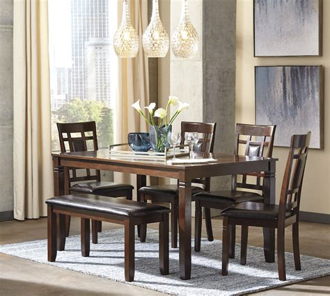 ashley furniture bennox   casual dining table bench