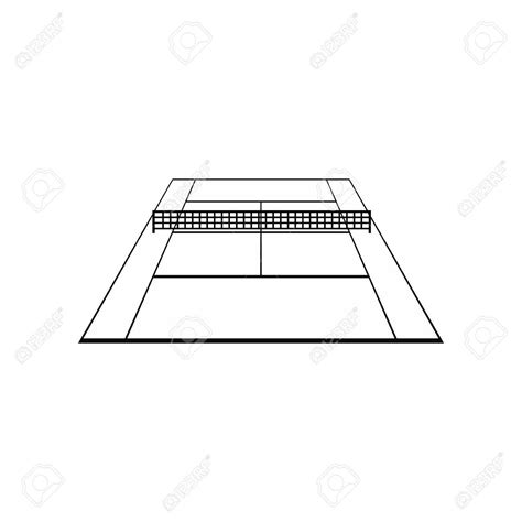 tennis court drawing  getdrawingscom   personal  tennis court drawing   choice