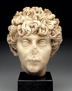 Head of a Roman youth, Roman Empire, c. A.D.140-170 ...