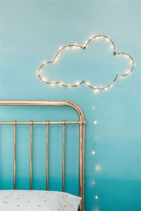 diy cloud wall hanging with lights