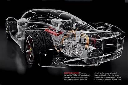 Ferrari Laferrari Engine Wallpapers Cutaway Background Rear