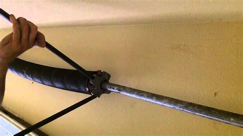 garage door torsion spring repair youtube