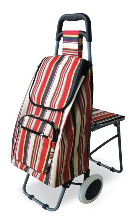 siege pour caddie shopping trolley with fold seat living made easy