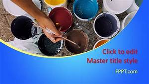 Template Power Point Free Paint Powerpoint Template Free Powerpoint Templates