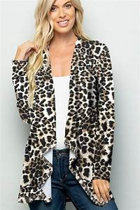 Long Sleeve Animal Print Drape Cardigan Jalynn 39 S Closet