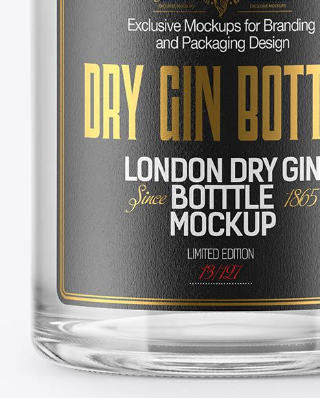 Free all free mockups branding & stationery. Download Clear Glass Gin Bottle With Tube Mockup ...