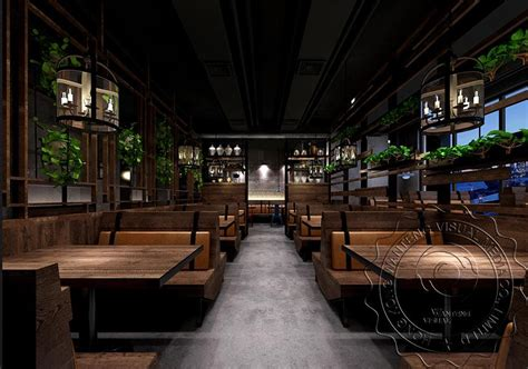 chinese style restaurant rendering designmodern chinese