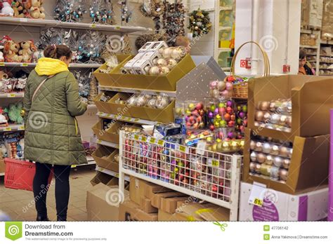 people in the store to buy christmas decorations editorial photography image 47706142