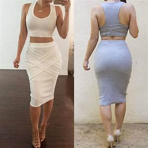 Disco Outfit 2017 : 2017 women two piece outfits summer sexy club bodycon party dress sleeveless casual midi bandage ~ Frokenaadalensverden.com Haus und Dekorationen