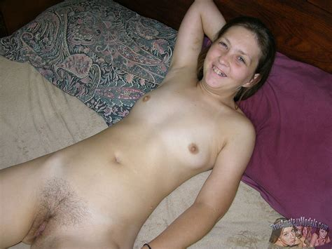 18 Year Old Amateur Farm Girl Spreading Hairy Bush Apart