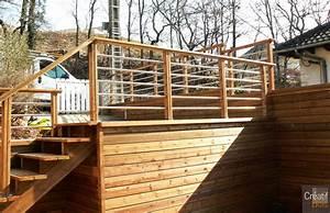 garde corps tube inox et terrasse en bois correze 19 brive With garde corps terrasse inox