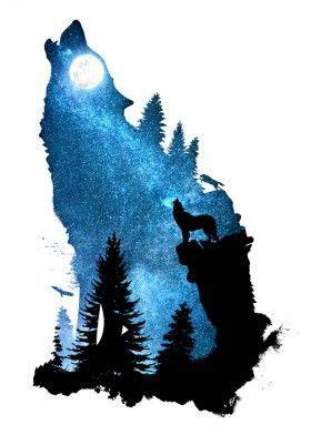 Designstudio Dverissimo Wolf Dog Howling Wind Howl Night