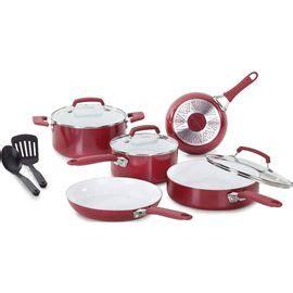 wearever  piece ceramic set red ceramic cookware set