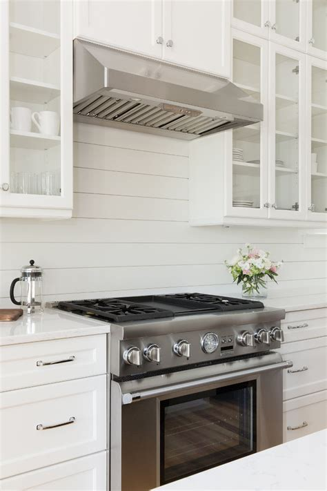 Shiplap Backsplash by Coastal Farmhouse Home Bunch Interior Design