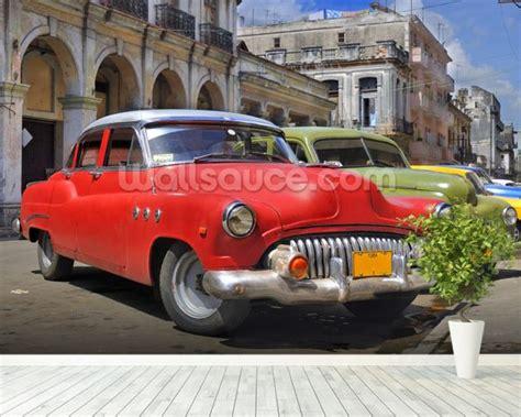 Classic Car Wallpaper Setting by Cuba Classic Cars Wallpaper Wall Mural Wallsauce Uk