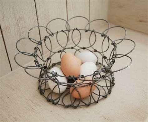 1000 about primitives wire egg baskets on